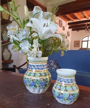mexican ceramic mexican potttery folk art talavera Gorky Gonzalez Pots and Flower Vases<br>Catalogue