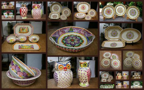 mexican ceramic mexican potttery folk art talavera Gorky Gonzalez Purple<br>Collection