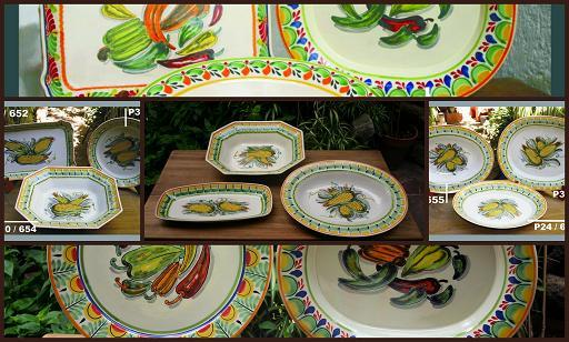 mexican ceramic mexican potttery folk art talavera Gorky Gonzalez Corn & Peppers<br>Collection