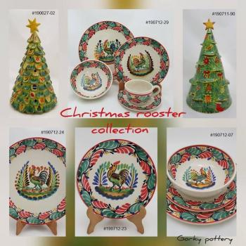 mexican ceramic mexican potttery folk art talavera Gorky Gonzalez Christmas<br>Collection