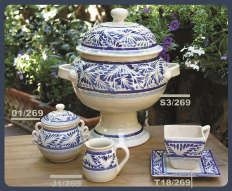 Gorky Gonzalez / GorkyPottery Blue Flower Collection 2
