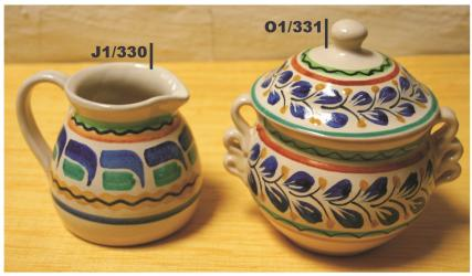 Mexican pottery mexican ceramic folk art Sugar & Cream Set