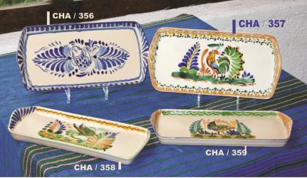 Mexican pottery mexican ceramic folk art Trays