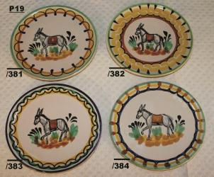 Mexican pottery mexican ceramic folk art Bread Plate w/donky