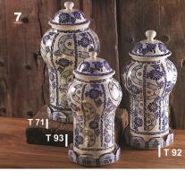 mexican pottery mexican ceramic folk art talavera Set (3) Olan Base