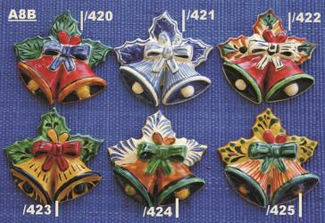 Mexican pottery mexican ceramic folk art BELL ORNAMENTS