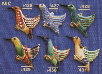 Mexican pottery mexican ceramic folk art COLIBRI ORNAMENTS