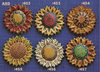 Mexican pottery mexican ceramic folk art SUNFLOWER ORNAMENTS
