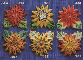 Mexican pottery mexican ceramic folk art FLOWER EVE ORNAMENTS