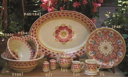 Mexican pottery mexican ceramic folk art Red Flower Collection 2