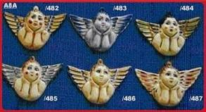 Mexican pottery mexican ceramic folk art ANGEL ORNAMENTS