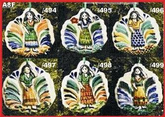 Mexican pottery mexican ceramic folk art WOMAN ORNAMENTS