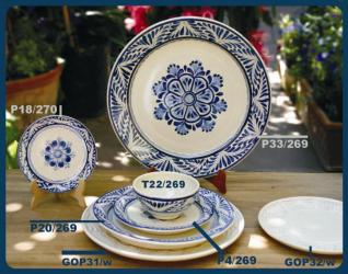mexican pottery mexican ceramic folk art talavera Blue Flower Collection 3