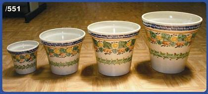 Mexican pottery mexican ceramic folk art Traditional<br>Flower Pots