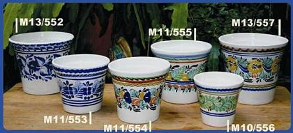 Mexican pottery mexican ceramic folk art Traditional<br>Flower Pots II