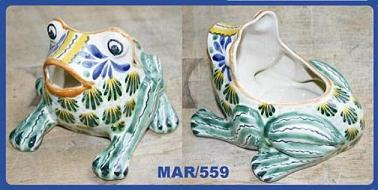 Mexican pottery mexican ceramic folk art Frog<br>Flower Pot