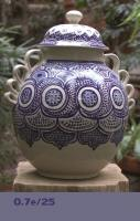 mexican pottery mexican ceramic folk art talavera Blue Base Pattern 25