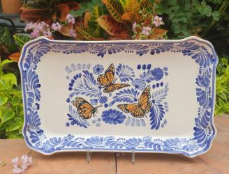 200607-01+mexican+platter+majolica+hand+painted+folk+art+butterfly+mexico