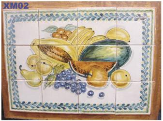 Mexican pottery mexican ceramic folk art Fruits<br>Wall of Tiles