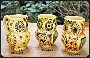 Mexican pottery mexican ceramic folk art Yellow Mugs