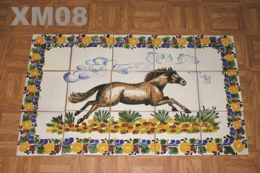 Mexican pottery mexican ceramic folk art Wall of Tiles XM08