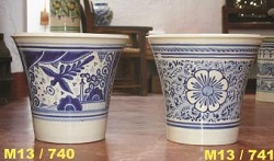 Mexican pottery mexican ceramic folk art Large Pot<br>Blue