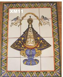 Mexican pottery mexican ceramic folk art Virgin of San Juan<br>Wall Tiles