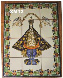 Mexican pottery mexican ceramic folk art Virgin of San Juan<br>Wall Tiles II