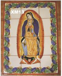 Mexican pottery mexican ceramic folk art Virgin of Guadalupe<br>Wall of Tiles