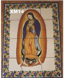 Mexican pottery mexican ceramic folk art Virgin of Guadalupe<br>Wall of Tiles II