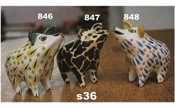 mexican pottery mexican ceramic folk art talavera Wild Pig<br>Salt & Pepper Shaker Set