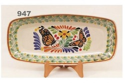 mexican pottery mexican ceramic folk art talavera Butterfly Mini Rectangular Plate