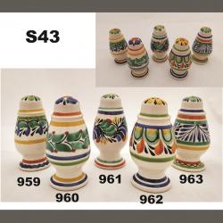 Mexican pottery mexican ceramic folk art Spinning<br>Salt and Pepper Shaker