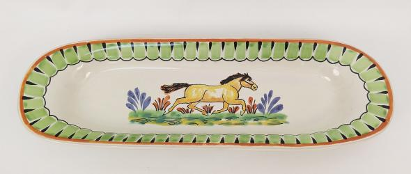 mexican pottery mexican ceramic folk art talavera Horse Oval Long Plate