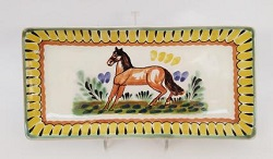 mexican pottery mexican ceramic folk art talavera Horse Large Rectangular Plate