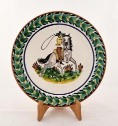 mexican pottery mexican ceramic folk art talavera CowBoy Dinner Plate
