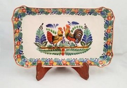 Mexican pottery mexican ceramic folk art Love Chickens<br>Traditional Colors