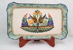 Mexican pottery mexican ceramic folk art Love Birds<br>Green-Blue Colors