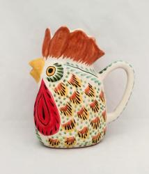 mexican pottery mexican ceramic folk art talavera Large Rooster Water Jar<br>Terracota-Yellow Colors