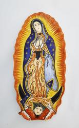 mexican ceramic mexican potttery folk art talavera Gorky Gonzalez Virgin Gpe<br>Small Altar Piece