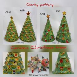 Mexican pottery mexican ceramic folk art Christmas Tree Collection