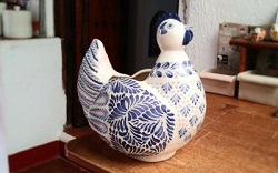 Mexican pottery mexican ceramic folk art Blue Hen Decorative