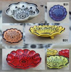 mexican pottery mexican ceramic folk art talavera Flower<br>Dish Plate