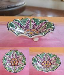 ceramic-flower-snack-dish-hand-painted-purple-tableware