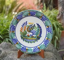 dancing-bird-3-plate-mexicanpottery-ceramics-handmade-handthrown-handpaited-gorkypottery-mexico-majolica-eatdifferent-tabletop-ceramics
