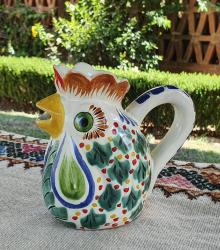 mexican-ceramic-pottery-folk-art-creamer-rooster-majolica-hand-made-mexico