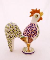 mexican-ceramic-rooster-figure-multicolors-hand-made-mexico-majolica-gorky-talavera