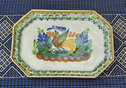 mexican-ceramic-tray-pottery-hand-crafts-majolica-technique-tableware-amazon-folk-art-mexico-garden-home-bird-motives