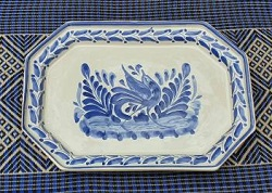 mexican-ceramic-tray-pottery-hand-crafts-majolica-technique-tableware-amazon-folk-art-mexico-garden-home-blue-talavera-bird-motives