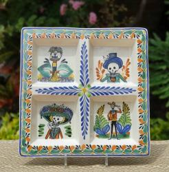 mexican-ceramic-tray-pottery-hand-painted-guanajuato-mexico-tableware-amazon-catrina-motives-halloween-decorations-ideas